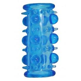 Голубая насадка с шипами и шишечками LUST CLUSTER