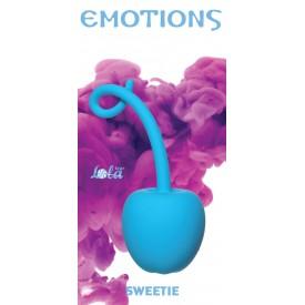 Голубой стимулятор-вишенка со смещенным центром тяжести Emotions Sweetie